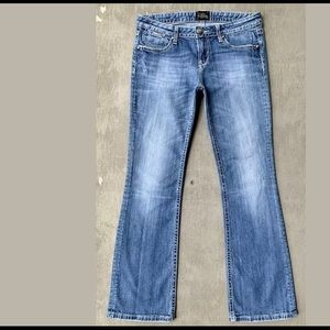 ReRock Outline Stitched Bootcut Blue Jeans